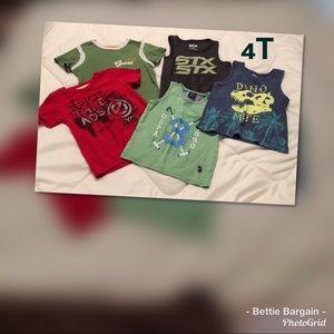 4T.   5 pc Shirt Lot